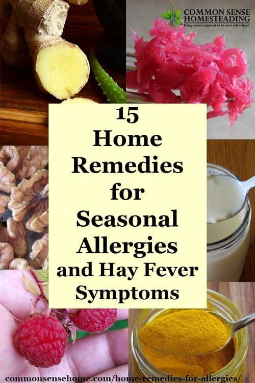 Home remedies for Seasonal Allergies and tips to help hay fever ...